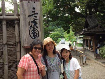 日本の歴史ドラマが大好きな台湾の女性客 三溪園に興味津々!