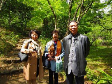 上海の書家を三溪園に案内
