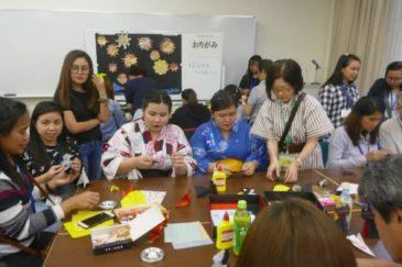 AOTS/EPA介護福祉士候補者に日本文化を紹介③