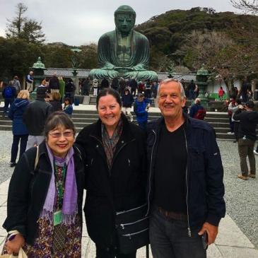 70代イスラエル人ご夫妻 鎌倉で桜を楽しむ