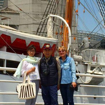 オーストラリアセレブカップル 横浜で和食を堪能