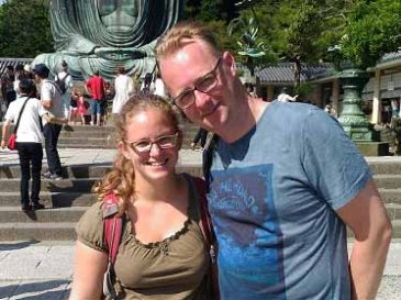 A Couple from the Netherlands Impressed with the Japanese Garden in Kamakura