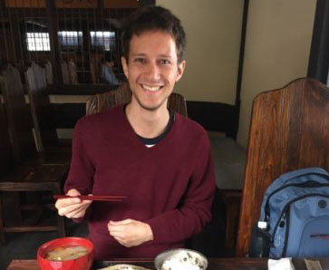 Israeli Man Visiting Temples and Tosho (Swordsmith) in Kamakura