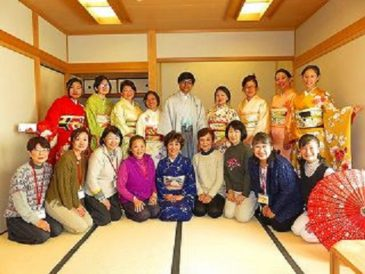 JICA Participants are happy to wear Beautiful Kimono