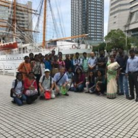 Indian Students Enjoy Yokohama in Intense Heat