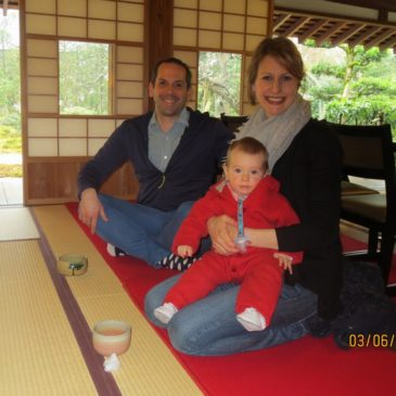 German Family Enjoy Walking Around Kamakura in Rain