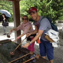 "A Couple from the Country of ""Amore,"" Comes to Kamakura, the Ancient Capital City on Their Honeymoon"