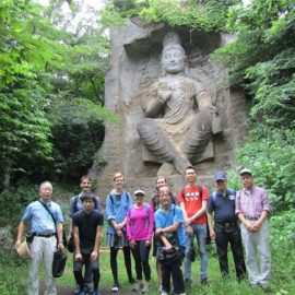 Hiking in Mt. Takatori; What A Gigantic Buddhist Image the Magaibutsu  Is!