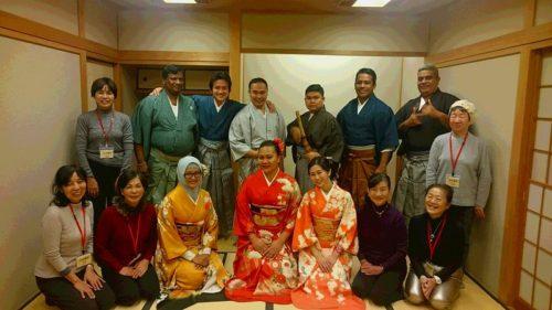 JICA Yokohama Participants in Kimono
