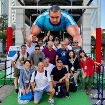 Argentine Rugby Supporters Stride out in Kamakura and Yokohama