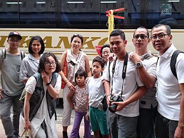 インドネシア人家族9名 横浜案内