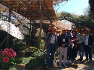 ベトナム系アメリカ人カップル カラフルな鎌倉を楽しむ