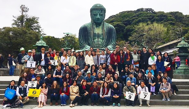 CIEE62名の留学生を鎌倉にご案内