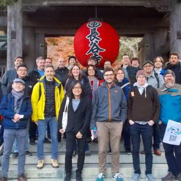 国際会議参加者を雨上がりの鎌倉 案内
