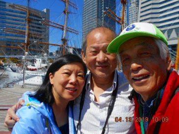 香港からのご夫妻、横浜の街を散策