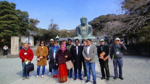 JICA横浜研修員を早春の鎌倉に案内