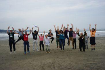 JICA東京研修員と浜辺でランチを