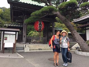 スペイン人女性、鎌倉で日本の美を堪能!