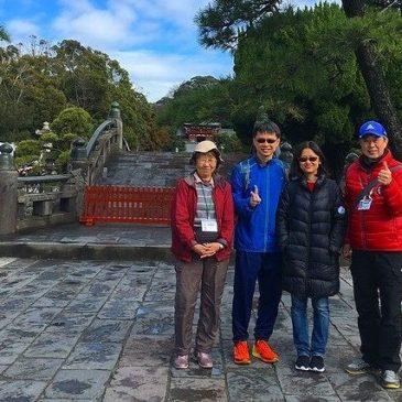 シンガポールからのカップルと鎌倉を散策