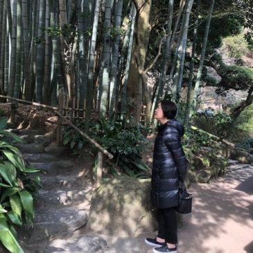 日本通の米国人、江の島で地元食の体験と街歩き