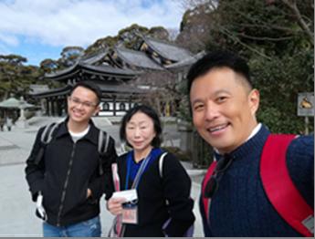 マレーシア人、梅と河津桜が満開な長谷寺に思わず歓声!