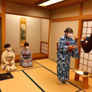 JICA横浜研修員にZoomで茶道を紹介!