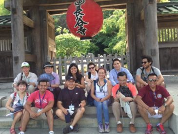 Multi-National Trainees Enjoy a Day in Kamakura