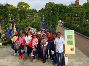 Filipino Bankers Visit Flower Fest in Yokohama