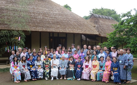 International Participants Enjoy Japanese Culture While Wearing Yukata
