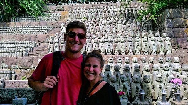 An American Couple Walks around Kamakura