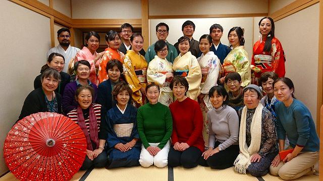 JICA Yokohama Participants Experienced Wearing Kimono