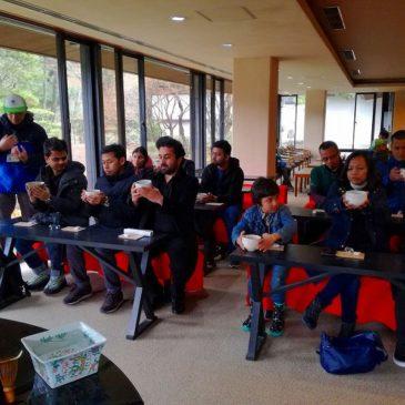 JICA Participants Enjoy World of Indian-Ink Painting at Sankeien Garden in Snow