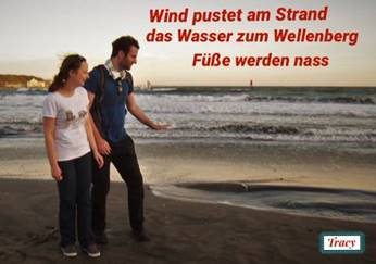 A German Couple Expresses the Impression of Kamakura in a haiku poem