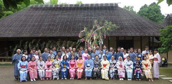 International Students Enjoy Wearing Yukata Kimono:, The Star Festival, Bon Dancing, and Noodles