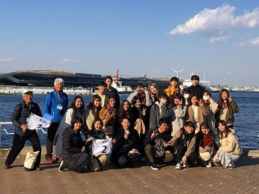 International Students at Kanagawa University Enjoy the Yokohama Cruise
