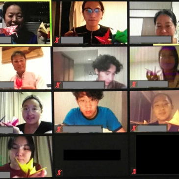 On–line Origami Class for JICA*1 Yokohama Participants