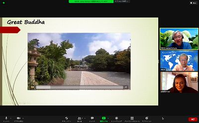 Indian Girl Enjoys Kamakura via On−line Tour